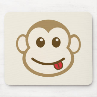 Monkey Face Vector Art Mouse Pad
