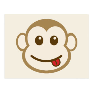 Monkey Face Vector Art Post Cards