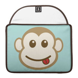 Monkey Face Vector Art Sleeves For MacBook Pro