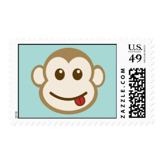 Monkey Face Vector Art Stamp
