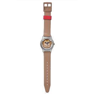 Monkey face wrist watch