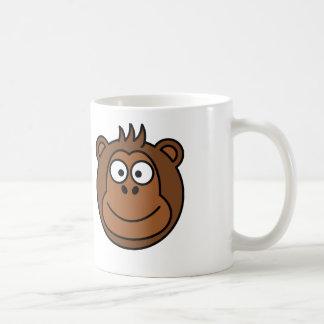 Monkey Face - White Coffee Mug