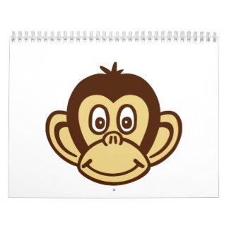 Monkey face calendar