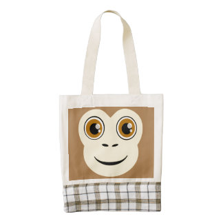 Monkey Face Zazzle HEART Tote Bag
