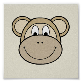 Monkey Faces Poster
