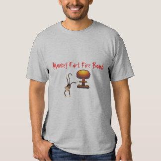 Monkey Fart Fire Bomb Tee Shirts
