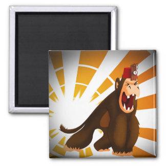 Monkey Fez Bomb Magnet