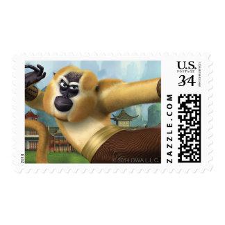 Monkey Fight Pose Postage