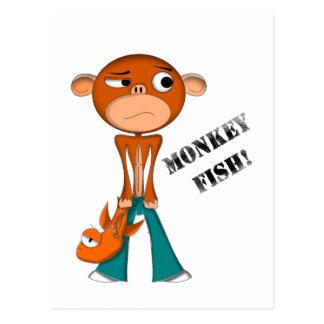 MONKEY-FISH POSTCARD