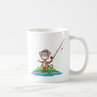 Monkey Fishing Coffee Mug