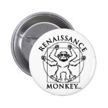 Monkey flair pinback button