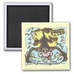 Monkey flings Poo by Mudge Studios Fridge Magnet