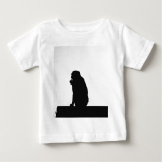 Monkey flossing silhouette photo baby T-Shirt
