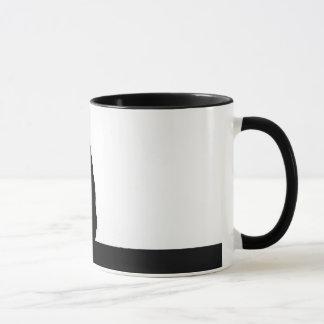 Monkey flossing silhouette photo mug
