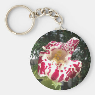 Monkey Flower Maroon Spotted/Light Yellow Keychain