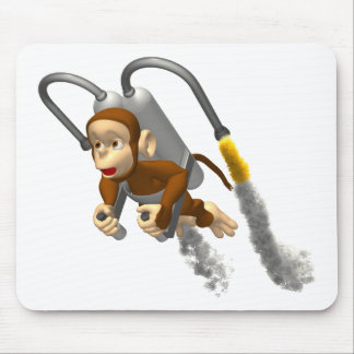 Monkey Fly Mouse Pad