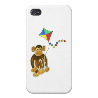 Monkey Flying Kite iPhone 4 Case