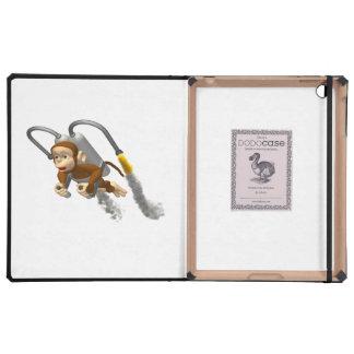 Monkey Flying With Jetpack iPad Case