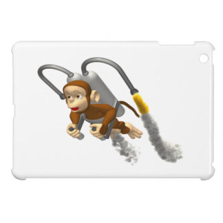 Monkey Flying With Jetpack iPad Mini Cover