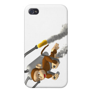 Monkey Flying With Jetpack iPhone 4/4S Case