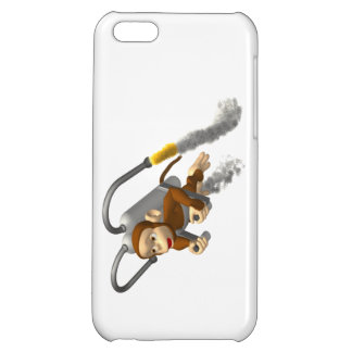 Monkey Flying With Jetpack iPhone 5C Cover