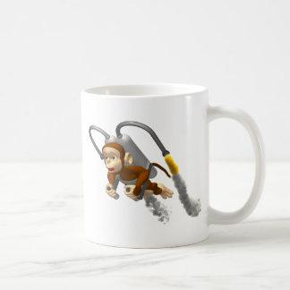Monkey Flying With Jetpack Classic White Coffee Mug