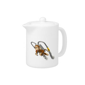 Monkey Flying With Jetpack Teapot