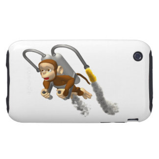 Monkey Flying With Jetpack Tough iPhone 3 Case