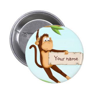 Monkey for children 2 inch round button