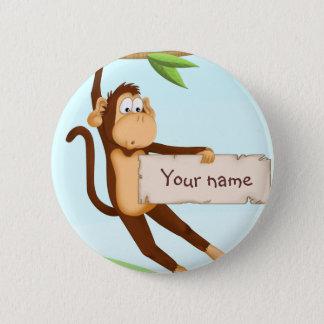 Monkey for children pinback button