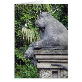 Monkey Forest Gate Card
