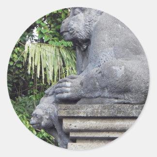 Monkey Forest Gate Classic Round Sticker