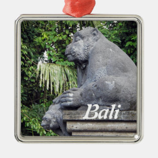 Monkey Forest Gate Metal Ornament