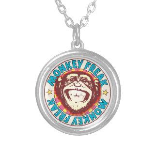 Monkey Freak Round Pendant Necklace