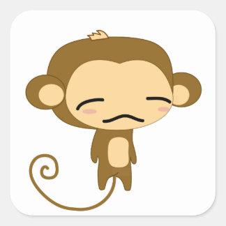 monkey friend square sticker