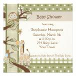 Monkey & Friends Baby Shower Invitation