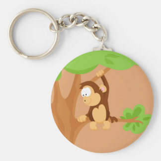 Monkey from my world animals serie keychain