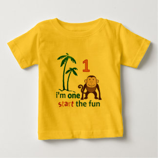 Monkey Fun One Baby T-Shirt