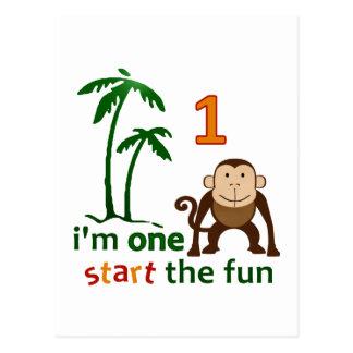 Monkey Fun One Postcard