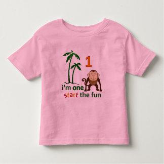 Monkey Fun One Toddler T-shirt
