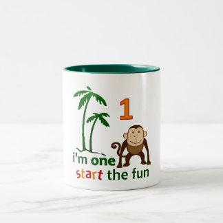 Monkey Fun One Two-Tone Coffee Mug