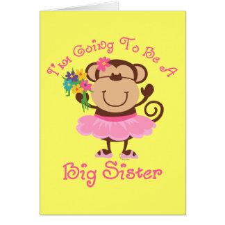 Monkey Future Big Sister Greeting Cards