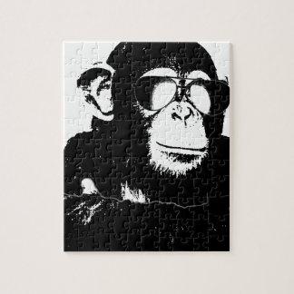 Monkey.gif sombrío rompecabeza con fotos