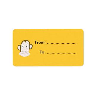 Monkey Gift Tag Custom Address Label
