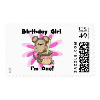 Monkey Girl 1st Birthday Tshirts and Gifts Postage