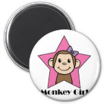 Monkey Girl 2 Inch Round Magnet