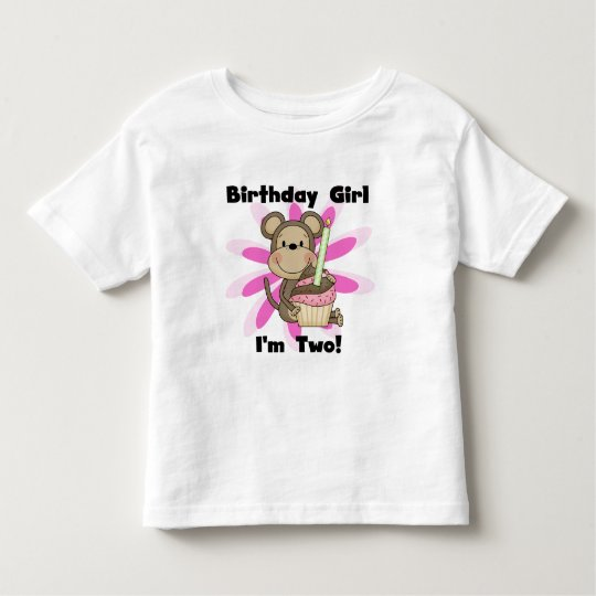 Monkey Girl 2nd Birthday Tshirts and Gifts