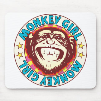 Monkey Girl Mouse Pad