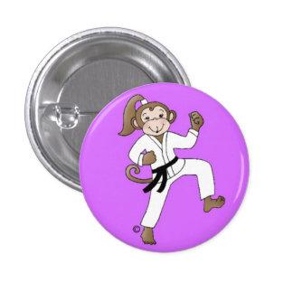 Monkey Girl pinback button