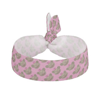 Monkey Girl Pink Hair Tie/Wrist Wrap Ribbon Hair Tie